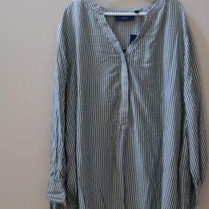 Apt. 9 3/4 Sleeve Button-Up Shirt